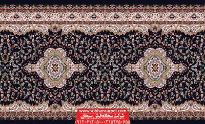 فرش سجاده مسجد بدون محراب طرح پردیس تشریفات - زمینه سرمه ای