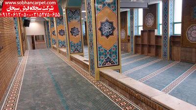 فرش تشریفاتی مسجد با رنگبندی آبی