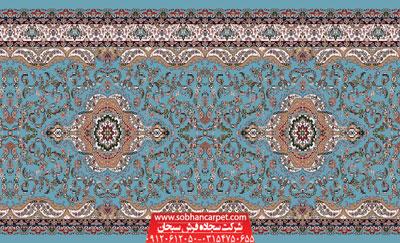 فرش مسجدی بدون محراب طرح پردیس تشریفات - زمینه آبی