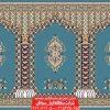فرش مسجدی کاشان طرح سلطان - زمینه آبی فیروززه ای