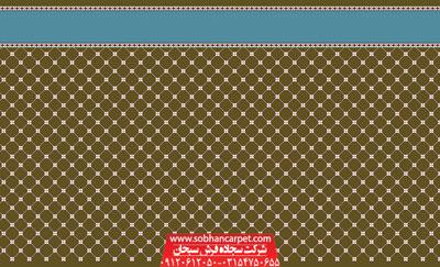 فرش مسجد تشریفاتی طرح رمضان - زمینه گردویی
