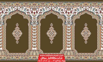 فرش مسجد طرح رضوان - زمینه گردویی