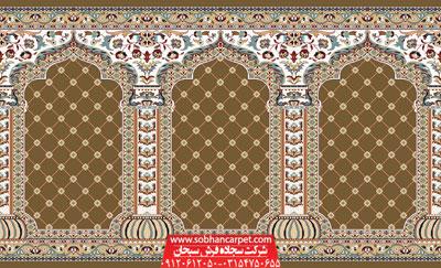 سجاده فرش طرح یاسین - زمینه گردویی