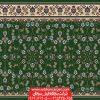 فرش سجاده تشریفاتی مسجد طرح افشان - زمینه سبز