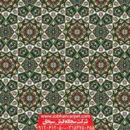 فرش تشریفاتی برای مسجد طرح خاتم - زمینه سبز یشمی