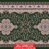 سجاده فرش بدون محراب طرح پردیس تشریفات - زمینه سبز