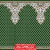 سجاده فرش محرابی مسجد کاشان طرح ثامن - زمینه سبز یشمی
