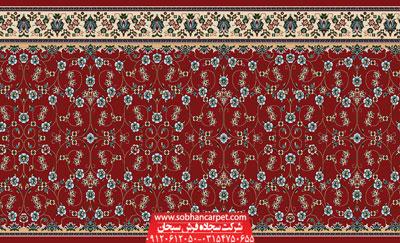 فرش مسجد تشریفاتی طرح افشان - زمینه روناسی
