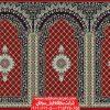 فرش سجاده محرابی مسجد طرح کرمان - زمینه قرمز روناسی