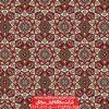 سجاده فرش تشریفاتی برای مسجد طرح خاتم - زمینه قرمز روناسی