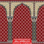 فرش سجاده ای برای حسینیه طرح مناجات - زمینه قرمز روناسی