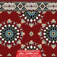 سجاده فرش تشریفاتی مسجد طرح پردیس ترنچ - زمینه روناسی