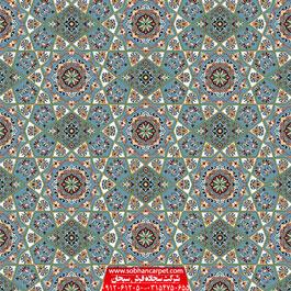فرش سجاده ای یکپارچه آبی