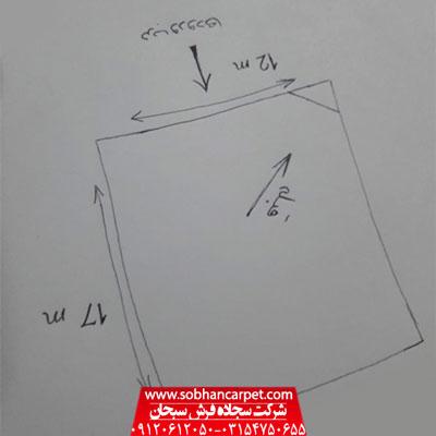 نمونه نقشه مسجد برای سفار بافت سجاده فرش آریا