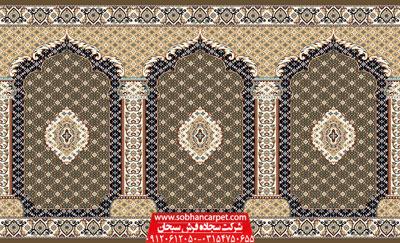 سجاده فرش طرح ریزماهی مناسب برای هر نوع مسجد و نمازخانه