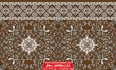 فرش بدون محراب طرح سلیمان کاشان