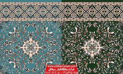 فرش سجاده ای مسجد بدون محراب طرح سلیمان