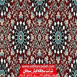 سجاده فرش یکپارچه طرح مدینه -قرمز